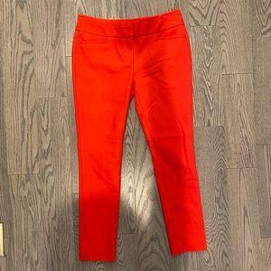 Loft red marissa skinny pants